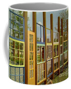 New Orleans Closed Door And A Window Of Many Views Coffee Mug