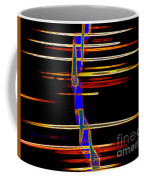 New Orleans Neon Frequency Native American Indan Abstract 3 Coffee Mug