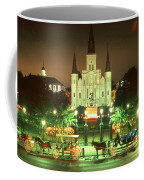 New Orleans Night Photo - Saint Louis Cathedral Coffee Mug