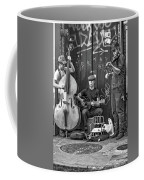 New Orleans Street Musicians Bw Coffee Mug