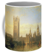 New Palace Of Westminster From The River Thames Coffee Mug by David Roberts
