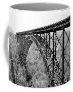 New River Gorge Bridge Bw Coffee Mug