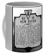 New River Historical Marker Coffee Mug
