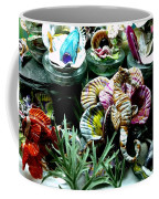 New Seahorse With Coral Imagery Coffee Mug