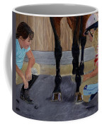 New Shoe Review Horse And Children Painting Coffee Mug