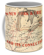 New York And Erie Railroad Map 1855 Coffee Mug
