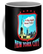 New York Big Apple Design Coffee Mug
