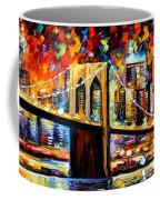 New York Brookyln Bridge Coffee Mug