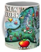 New York Cartoon Map Coffee Mug