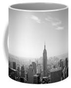 New York City - Empire State Building Panorama Black And White Coffee Mug
