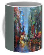 New York City 42nd Street Painting Coffee Mug