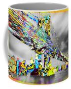 New York City Manhattan Bridge Pure Pop Gold Coffee Mug
