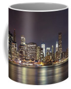 New York City - Manhattan Waterfront At Night Coffee Mug