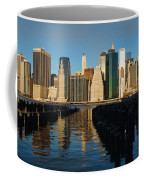 New York City Morning Reflections - Impressions Of Manhattan Coffee Mug