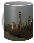 New York City Skyline Aerial - Lower Manhattan Coffee Mug