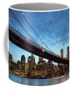 New York City Skyline By Night Coffee Mug