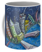 New York City Skyline Hoboken Coffee Mug