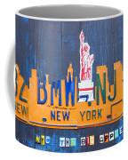 New York City Skyline License Plate Art Coffee Mug