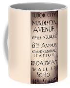 New York City Street Sign Coffee Mug