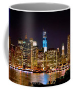 New York City Tribute In Lights And Lower Manhattan At Night Nyc Coffee Mug