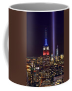 New York City Tribute In Lights Empire State Building Manhattan At Night Nyc Coffee Mug