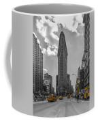 New York - Flatiron Building And Yellow Cabs - 2 Coffee Mug