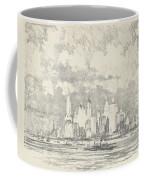 New York From Ellis Island Coffee Mug