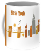 New York Horizontal Scene - Brooklyn Bridge Coffee Mug