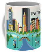 New York Horizontal Skyline - Central Park Coffee Mug