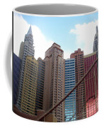 New York Hotel With Clouds Coffee Mug