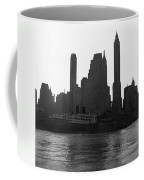 New York Silhouette At Dusk Coffee Mug