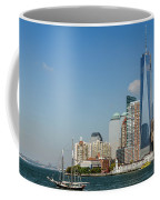 New York Skyline And Sailboat Coffee Mug