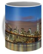New York Skyline - Brooklyn Bridge Panorama - 2 Coffee Mug