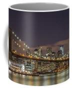 New York Skyline - Brooklyn Bridge Panorama - 3 Coffee Mug
