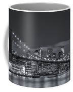 New York Skyline - Brooklyn Bridge Panorama - 4 Coffee Mug
