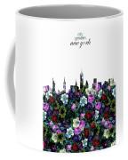 New York Skyline Floral 3 Coffee Mug