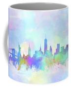 New York Skyline Watercolor 7 Coffee Mug