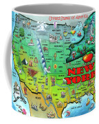 New York Usa Coffee Mug