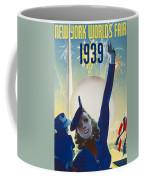 New York, World Fair, Firework, Woman In Blue Dress Coffee Mug