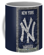 New York Yankees Brick Wall Coffee Mug