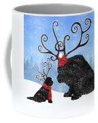 Newfie Reindeer Coffee Mug