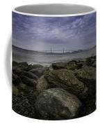Newport Bridge Under Dramatic Sky Coffee Mug