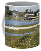Newport Estuary And Nearby Businesses Coffee Mug