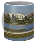 Newport Estuary Looking Across At Major Hotel And Businesses Coffee Mug
