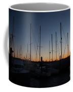 Newport Harbor Rhode Island Boats At Sunset Coffee Mug