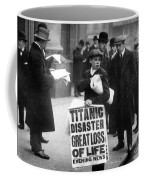 Newsboy Ned Parfett Announcing The Sinking Of The Titanic Coffee Mug by English School