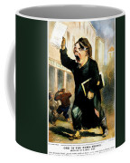 Newsboy Shouting, 1847 Coffee Mug