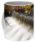 Newton Upper Falls Autumn Waterfall Coffee Mug