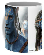 Neytiri And Jake - Gently Cross Your Eyes And Focus On The Middle Image Coffee Mug