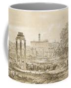Nicolas-didier Boguet   1755 - 1839   View Of The Roman Forum With The Temple Of Castor Coffee Mug